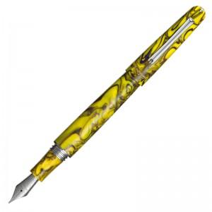 Перьевая ручка Montegrappa ELMO 01 Elmo 01 Fantasy Blooms Iris Yellow EF